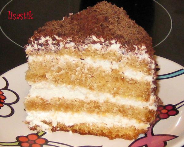 Рецепт торта бисквит с сметанным кремом